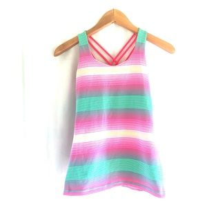 Ivivva tank striped size 14 girls